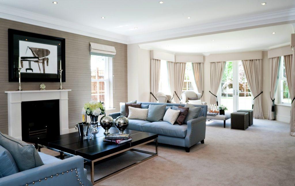 Lounge / Living Room at Dene House in Sunningdale.